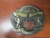 "VINTAGE 1987 ""US CONSTITUTION COMMEMORATIVE"" LIMITED EDITION BRASS BELT BUCKLE"